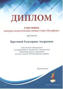 Диплом участника Педкоманды