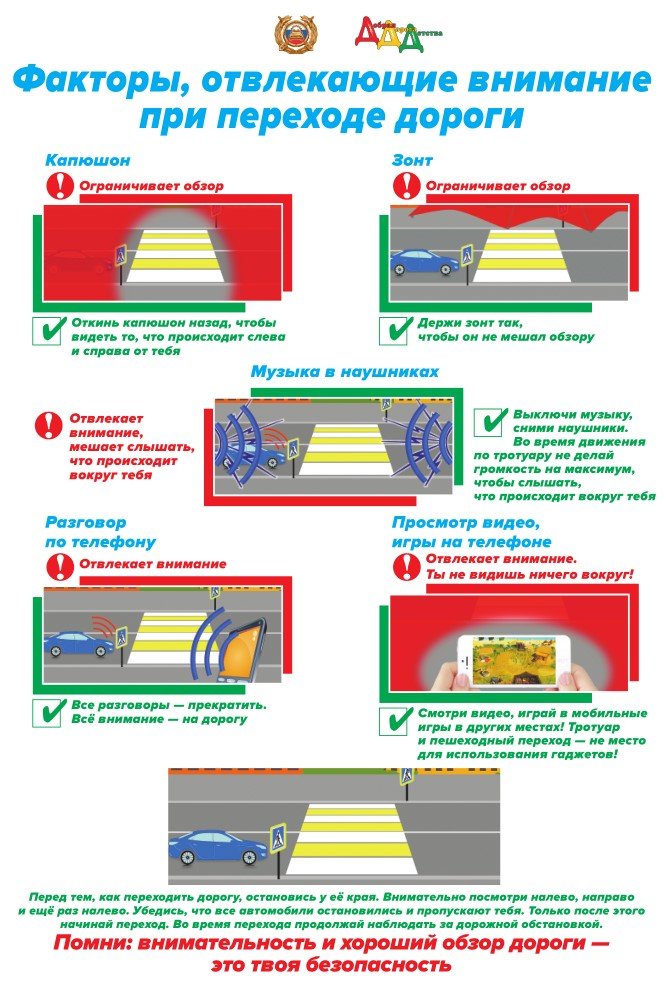 факторы, отвлекающие внимание пешехода (1)